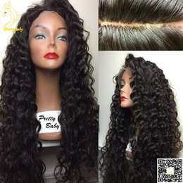 Lace Wig Silk Base Curly Canada - Silk Top Full Lace Wigs Human Hair Wigs Kinky Curly Human Brazilian Hair Lace Front Wig Silk Base with Baby Hair