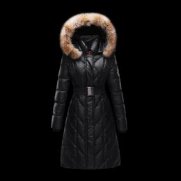 8a51f641a5 women coat ukraine womens winter jackets Black Long down parka Very warm  collar fur hood Down jacket Plus size clothing