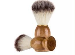 $enCountryForm.capitalKeyWord UK - Professional barber hair shaving Razor brushes Natural Wood Handle Badger Hair Shaving Brush For Best Men Gift Barber Tool Mens Face Care