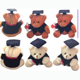 "$enCountryForm.capitalKeyWord Canada - 12cm(4.7"") Teddy Bear Graduation Bear Plush Sitting Doctor Bear Pendants Toys diploma Urso De De Pelucia 20pcs lot"