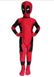 Chinese  Deadpool Costume Zentai Superhero Costume Cosplay Full Body For Kids manufacturers