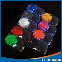 $enCountryForm.capitalKeyWord Canada - Top Sale Transparent Led Optical Wired Mouse Beautiful Blue Light USB Mouse Mice For Computer PC Laptop Desktop Free shipping