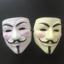 Vente chaude Parti Masques V pour Vendetta Masque Anonyme Guy Fawkes Fantaisie Robe Adulte Costume Accessoire Parti Cosplay Masques TO146