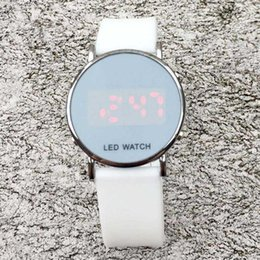 Wholesale Fashion NI Brand women men s unisex LED Digital display Silicone band wrist watch Full logo N03