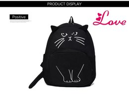 $enCountryForm.capitalKeyWord NZ - Women Lovely Cat Backpack Printing Canvas Backpacks School Bag For Teenagers Ladies Casual Cute Rucksack Bookbags