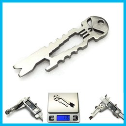 Tactical Gear Wholesalers NZ - Aluminum Key Holder Titanium Punisher Ti Pry Bar Pocket Multi Tool Key Ring EDC Gear SERE Keychain Tactical Gear Equipment