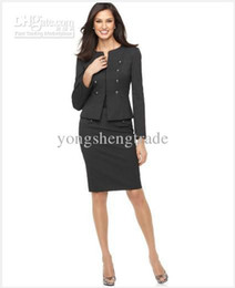 $enCountryForm.capitalKeyWord Canada - Women's Suit Long Sleeve Military Cadet Jacket & Pencil Skirt Custom Gray Women Suit