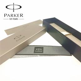 Atacado-1 pçs / lote Orginal Parker Case Parker Caixa de Alta Qualidade + Instrução Para Caneta Tinteiro / Roller Ball Pen / Esferográfica Presentes 18 * 5.5 * 4 cm em Promoção