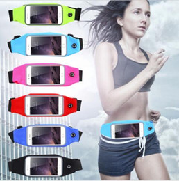 Wholesale Gym Waist Bag Waterproof Sport Case For iPhone x s S Plus Samsung Galaxy S5 S6 s7 edge s8 note8 Running Wallet Mobile Phone