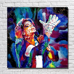 $enCountryForm.capitalKeyWord NZ - Cartoon Wall Art Singer Oil Painting Bedroom Wall Decor Hand Painted Modern Pictures on Canvas Figure Painting No Framed