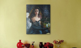 $enCountryForm.capitalKeyWord Canada - Hand-Painted Canvas Oil Painting #0252 Modern Figurative Elegant Young Lady For Home Dinning Room Bedroom Wall Decoration In Freely Shipping