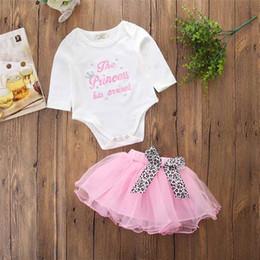 92b5a695d Fashion Europe Baby Girls Clothing Set Letter Print Bodysuit Tutu Skirt Set  Fall Winter Sweet Girls Clothing Set
