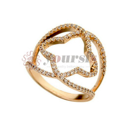 K Bars Canada - Yoursfs Fashion Rage Jewelry Unique Design Personality Four Star Finger Rings 18 K White and Rose Gold Plated Zircon Party Rings Jewelry