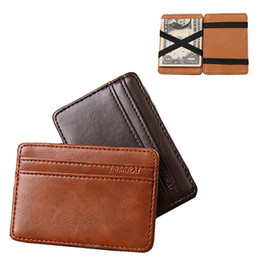 Magic wallets online shopping - Lucky Hot Sale Fashion Men Luxury Mini Neutral Magic Bifold Leather Wallet Card Holder Wallet Purse Whloesale
