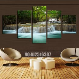 $enCountryForm.capitalKeyWord Canada - 5 Panel Forest Painting Canvas Wall Art Picture Home Decoration Living Room Canvas Print Modern Painting--Large Canvas Art Cheap#003