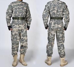 army full combat uniform 2019 - Wholesale-Men's Army Combat Uniform (ACU) fit for   cs war game cheap army full combat uniform