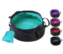 Nuevo cubo para acampar 8.5L Cubos plegables para exteriores Lavabo de lavado Cubo portátil Cazo de agua Cazo plegable para agua