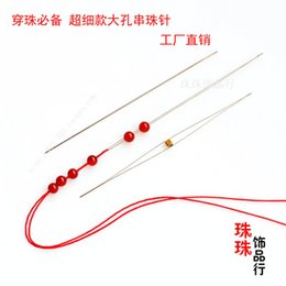 needle making Canada - DIY accessories professional tools and hand-made stainless steel bead bead needle needle needle a large fine