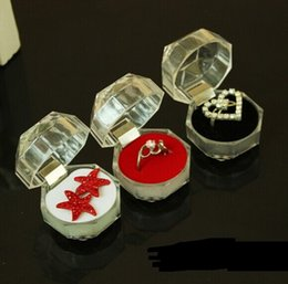 $enCountryForm.capitalKeyWord Canada - 4*4*4cm Small Size Transparent Acrylic Octagonal Gifts Rings.Stud Earrings Jewelry Jewellry Packing Package Display Showing Box Case
