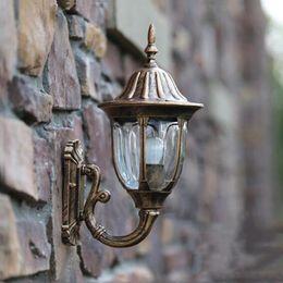 Discount Rustic Outdoor Lighting Fashion Europe Wall Sconce Outdoor Fence  Villa Courtyard Balcony Garden Lamps Waterproof