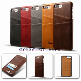 Luxury Credit Card Iphone Australia - New Luxury Fashion Business Style Leather Case For iphone 7 With Wallet Credit Card pokect Slots Cover Phone Funda Bags for iphone 7 plus