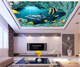 $enCountryForm.capitalKeyWord Canada - 3d wallpaper custom photo non-woven mural wall sticker underwater dolphin fish ceiling mural painting 3d wall room murals wallpaper