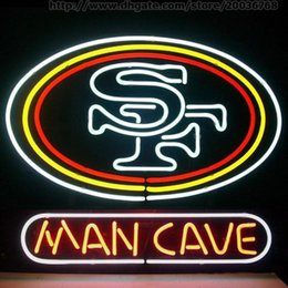 "custom neon commercial signs NZ - Man Cave SF Neon Sign Handmade Custom Real Glass Tube Commercial Art Beer Bar Disco KTV Club Display Advertisement Neon Signs 24""X20"""