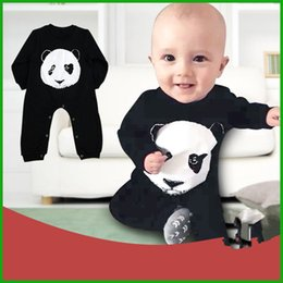 $enCountryForm.capitalKeyWord NZ - China treasure cartoon Panda baby boys girls jumpsuits children long sleeve black solid animal printed rompers kids outfits free shipping
