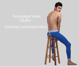 $enCountryForm.capitalKeyWord Canada - Wholesale-Men's Underwear Male Trousers Warm Cotton Pants Household Sexy G-string Furnishing Long Johns
