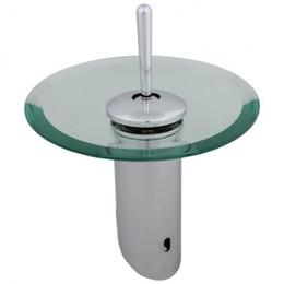 Mélangeur rond de bassin de salle de bains de cuisine de cascade mélangeant l'alliage de zinc de robinet en Solde
