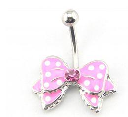 $enCountryForm.capitalKeyWord Australia - D0027-1 ( 2 colors ) nice bowknot style 002-01 Belly Button Navel Rings Dangle Accessories Fashion Charm Rabbit CZ 10Pcs Lot