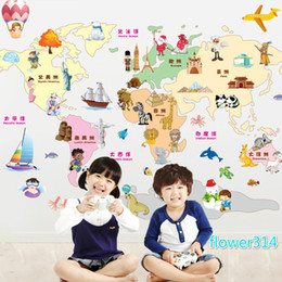$enCountryForm.capitalKeyWord Canada - 2016 cartoon walls with children's room living room bedroom sofa decorative wall stickers paper map of the world