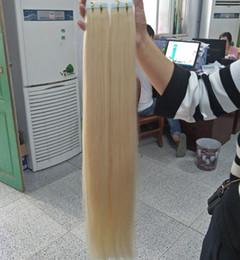 Grado 10A --- Doble color rubio dibujado 613 Cinta de la PU en la extensión del pelo 100% pelo remy humano 12 '' - 26 '' Peso 2 g / s 80g / paquete 40pcs, DHL libre en venta