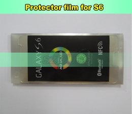 Screen Lcd Protector Canada - LCD Screen Plastic Seal Factory Screen Protective Film for Samsung S6 Glass Protector Repair Accessories 300pcs lot