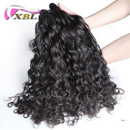 brazilian hair piece 14 18 inch 2019 - xblhair water wave virgin human hair extensions sew in hair extensions indian virgin human hair bundles cheap brazilian