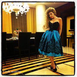 $enCountryForm.capitalKeyWord Canada - Myriam Fares Prom Dress Beautiful Sweetheart Tea Length Short Women Celebrity Wear Special Occasion Dress Evening Party Gown
