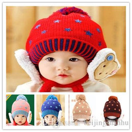 aea9fd11910 Warm Winter Children Hats 5 Color Plus Velvet Bone Protecting Ear Lei Feng  Caps Boys Girls Baby Bomber Hats 5 Colors