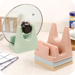 plastic insert stand 2019 - Hot Selling Home Cooking Tools Muti Functional Plastic Pot Pan Cover Shelf Household Pot Rack Stand Holder