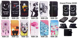 Samsung Grand Wallet Case Canada - Wallet Flip Leather Flower Skull Dreamcat Case TPU Cover For Samsung Grand Prime G530 S6 S7 Edge Note iPhone 5 SE 6 6S Plus Free Strape