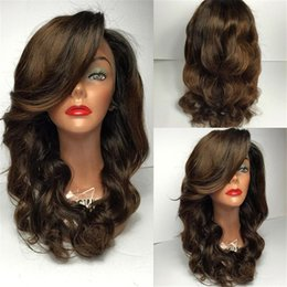 $enCountryForm.capitalKeyWord NZ - Natural Wave Long Length Glueless Full Lace Human Hair Wigs with Baby Hair Around Color #2 Brazilian Lace Front Wigs for Black Women