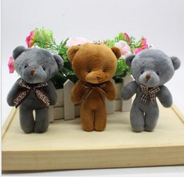 Promotional Gift Packaging NZ - New big teddy bear doll conjoined tie Xiong Bao package hang wedding promotional plush toys gifts