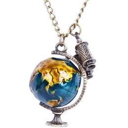 Discount world map jewelry world map jewelry 2018 on sale at world map jewelry 2018 fashion world map telescope long charm necklace novelty jewelry birthday christmas gumiabroncs Choice Image