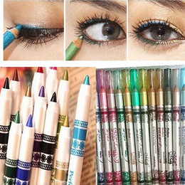 Stylo Paillettes Pas Cher-Vente en gros-12 couleurs New Lady cosmétiques Glitter Eye Shadow Lip Liner Eyeliner stylo maquillage