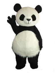 2018 Fábrica de venda direta Mascote de fantasia de panda gigante Traje de mascote de Natal Frete Grátis