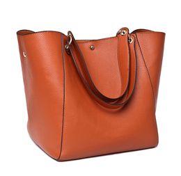China Handbag litchi pattern large capacity USA style women handbag fashion totes soft leather high quality purse women bag cheap fashion tote bags suppliers