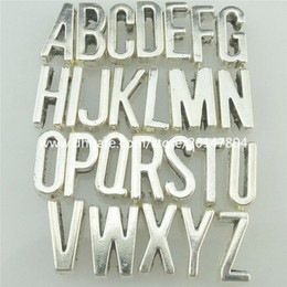 belt slide letters Canada - 2set=52PCS Spacer Bead Pendant Alphabet Letter For 6mm Belt Rope Bracelet Choker