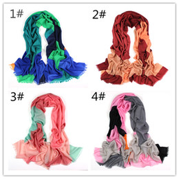 $enCountryForm.capitalKeyWord NZ - Top grade Ladies Women wool winter scarves fashion wraps shine soft warm scarf cashmere pashmina casual ring accessories, 4 color to choose
