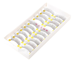 $enCountryForm.capitalKeyWord Canada - 10 Pairs set Natural Sparse Cross Eye Lashes Makeup Long Synthetic Makeup False Eyelashes