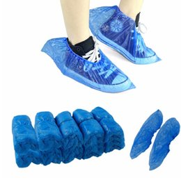 China Wholesale 1Pack 100 Pcs Medical Waterproof Boot Covers Plastic Disposable Shoe Covers Overshoes Home Cleaning Free shipping suppliers