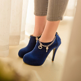 ultra high heels 43 Canada - Boots Matte Blue ultra scrub red wedding shoes plus size 40 - 33small yards boots high heel 12CM Platform 2CM EUR Size 32-43
